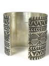 """Silver Thunderbird Cuff Bracelet 2 1/4"""" Wide by Sunshine Reeves"""