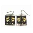 12k Gold & Sterling Sterling Kokopelli Earrings by Tommy Singer, Navajo