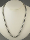 """Antiqued Sterling Silver 6mm Bead Necklace 16"""""""