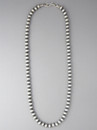 Antiqued Sterling Silver 6mm Bead Necklace 18""