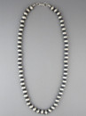 """Antiqued Sterling Silver 8mm Bead Necklace 18"""""""