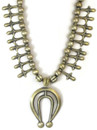 Sterling Silver Squash Blossom Necklace - Carol Begay