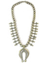 Sterling Silver Squash Blossom Necklace - Carol Begay