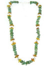Turquoise, Amber & Silver Bead Necklace
