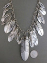 Sterling Silver Feather Necklace - Native American Silver Feather Jewelry