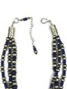 Three Strand Genuine Lapis Heart Necklace by Happy Piaso