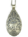 Sterling Silver Elk Pendant by Freddy Charley, Navajo Indian