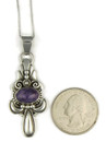 Silver Repousse Charoite Pendant by Fritson Toledo