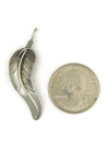 Sterling Silver Feather Pendant by Lena Platero, Native American Navajo Indian