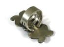 Fancy Handmde Silver Repousse Ring Size 9 by Derrick Gordon