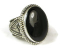 Handmade Sterling Silver Onyx Ring Size 9 1/2 by Albert Jake