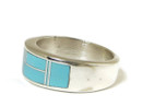 Turquoise Inlay Band Ring Size 12