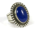 Silver Lapis Ring Size 7 by Jim Bedah