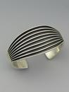 Sterling Silver Channel Cuff Bracelet by Francis Jones