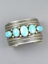 Kingman Turquoise Cuff Bracelet by Darryl Becenti