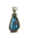 Natural Chinese Turquoise Gem Pendant by Les Baker