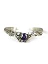 Sterling Silver Amethyst Bracelet by Les Baker Jewelry (BR5597)
