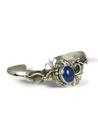 Sterling Silver Lapis Bracelet by Les Baker Jewelry (BR5599)