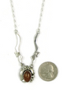 Sterling Silver Amber Necklace by Les Baker Jewelry