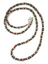 Mediterran Coral Silver Bead Necklace 36""