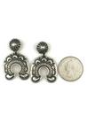 Handmade Sterling Silver Naja Earrings by Derrick Gordon