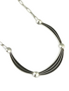 Silver Channel Necklace by Francis Jones