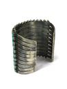 Ten Row Turquoise Cuff Bracelet by Raymond Betsoi