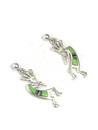 Gaspeite, Jet & Opal Inlay Kokopelli Earrings