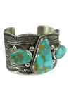 Royston Turquoise Cuff Bracelet by Guy Hoskie