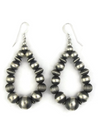 Sterling Silver Bead Loop Earrings (ER3807)