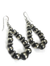 Sterling Silver Bead Loop Earrings (ER3808)