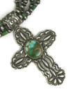 Natural Royston Turquoise Cross Necklace Set by Darryl Becenti