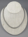 """Antiqued Sterling Silver 6mm Bead Necklace 26"""""""