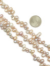 Three Strand Pink Pearl Necklace with Extender (NK4538)