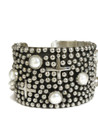 "Pearl Silver Cross Bracelet 1 1/2"" by Ronnie Willie (BR6164)"
