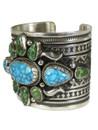 Kingman & Sonoran Turquoise Cuff Bracelet by Albert Jake (BR7010)