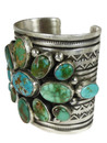 Royston Turquoise Cluster Cuff Bracelet by Albert Jake (BR7015)