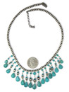 Turquoise Beaded Chandelier Necklace (NK4732)