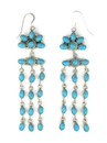 """Sleeping Beauty Turquoise Chandelier Earrings 4"""" (ER5014)"""