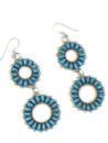 Turquoise Petit Point Dangle Earrings by Milburn Dishta (ER5570)