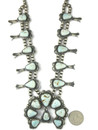 Dry Creek Turquoise Squash Blossom Necklace Set by Thomas Francisco (NK4265)