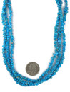 Three Strand Sleeping Beauty Turquoise Necklace (NK4856)