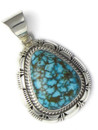 Kingman Turquoise Pendant by Larry Yazzie (PD4284)