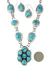 Sonoran Turquoise Necklace Set by Lyle Piaso (NK4860)