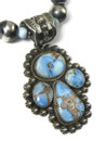 Golden Hills Turquoise Pendant Necklace Set by Happy Piaso (NK4867)