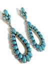 Sleeping Beauty Dangle Earrings by Evelyn Spencer (ER4394)