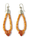 """Spiny Oyster Shell Jacla Earrings 3 1/4"""" by Ronald Chavez (ER4397)"""