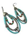 Turquoise & Gemstone Beaded Loop Earrings (ER5852)