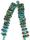 Turquoise Heishi Inlay Tab Necklace (NK4878)