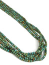 Five Strand Turquoise Heishi Bead Necklace by Daniel Coriz (NK4882)